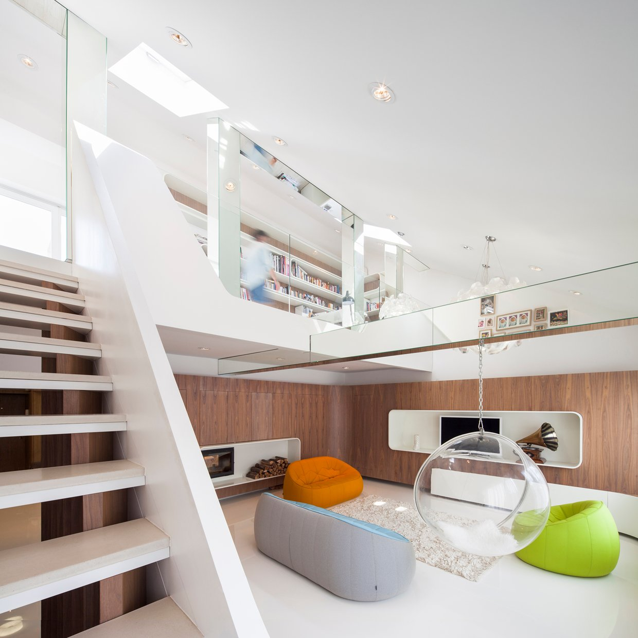 Modern Loft Apartment - Hungarian loft design uses a simple aesthetic for big stylish results