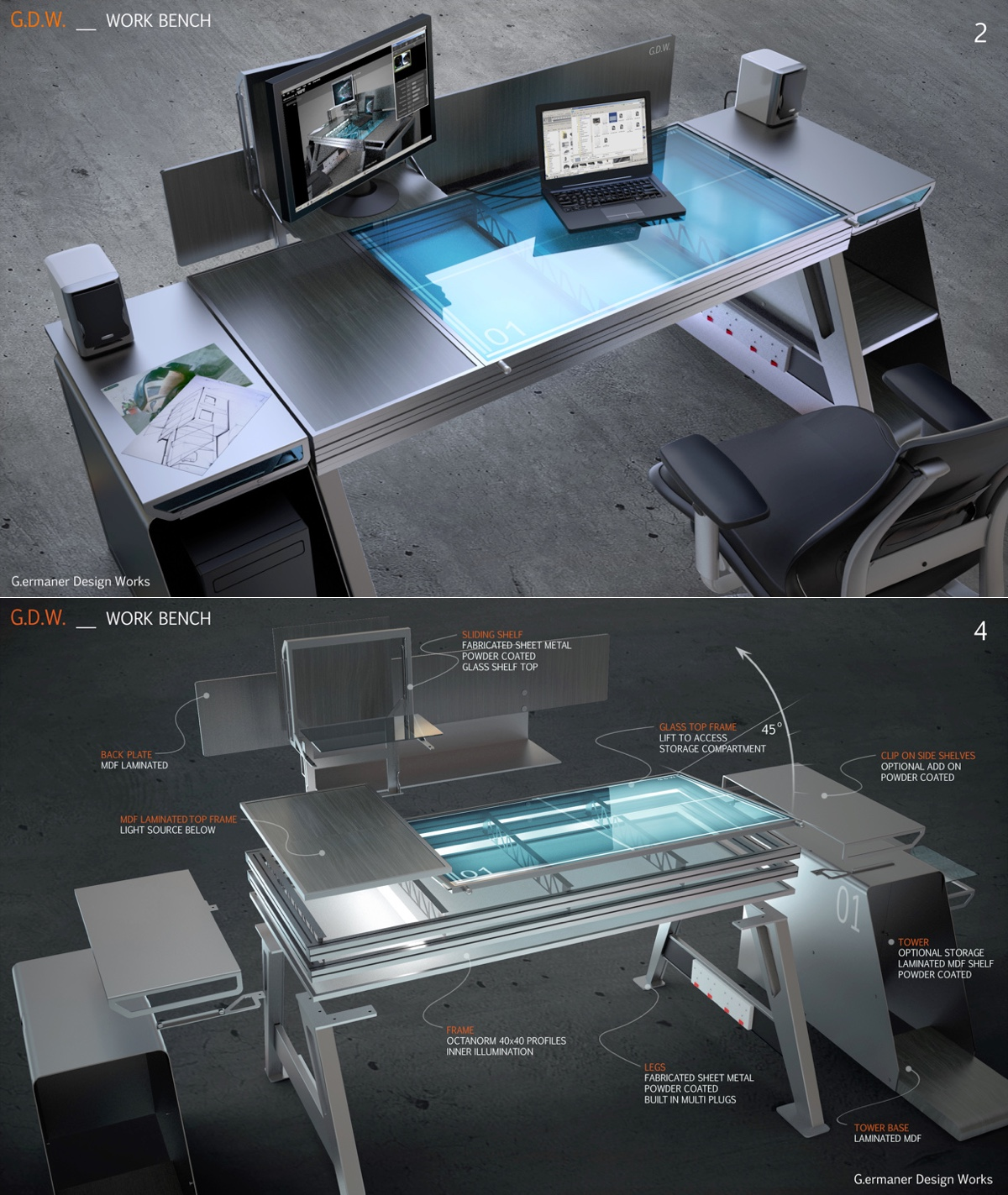 Modern Work Bench - Creative and inspirational workspaces
