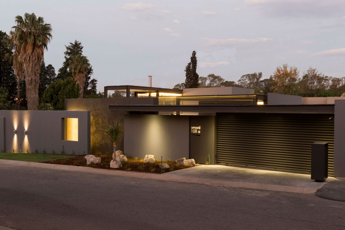 Creative renovation gives modern life to an existing frame Contemporary house plans one story
