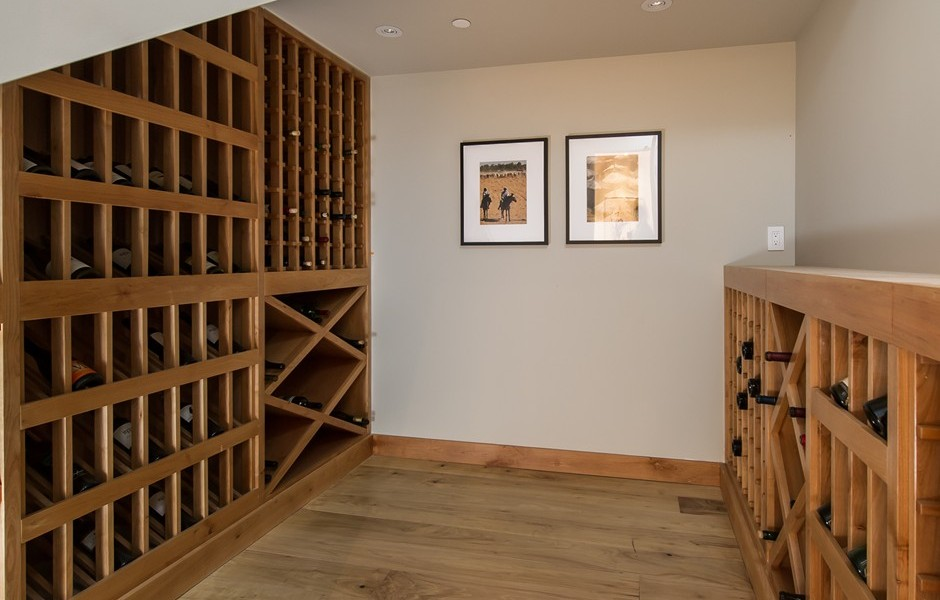 Personal Wine Cellar Design - Beach adjacent home with space for luxury entertaining