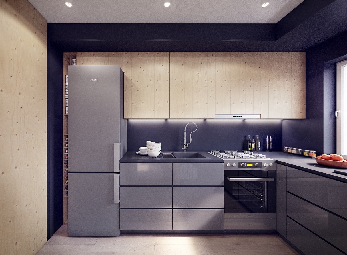 Reflective Kitchen Design - 2 sunny apartments with quirky design elements