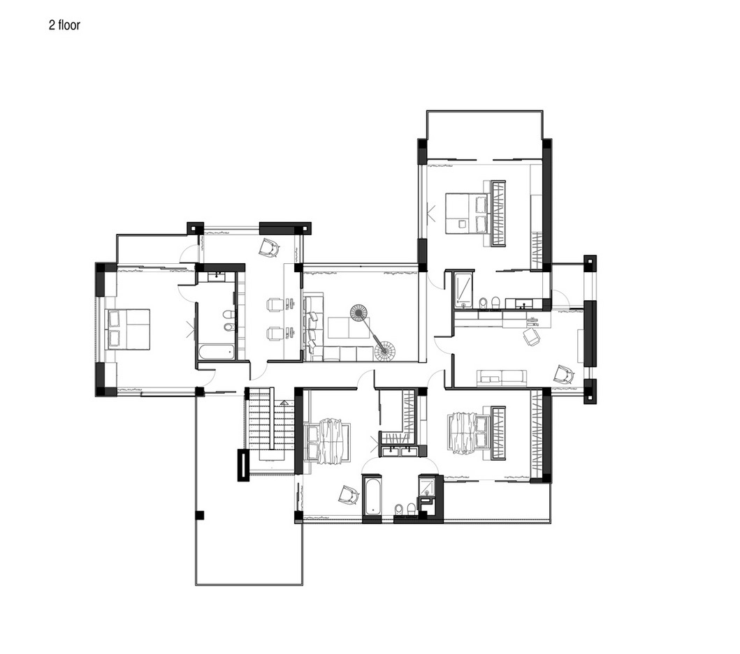 Second Floor Floorplan - A sleek house that puts a passion for cars on display