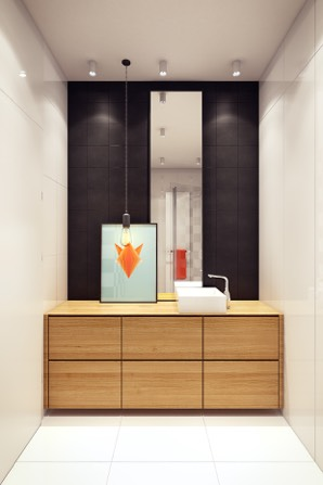 Sleek Bathroom Design - 2 sunny apartments with quirky design elements