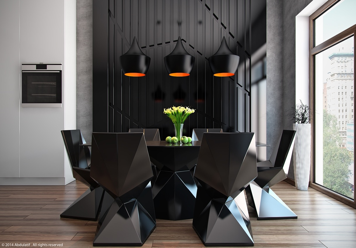 20 modern dining rooms for inspiration. Black Bedroom Furniture Sets. Home Design Ideas