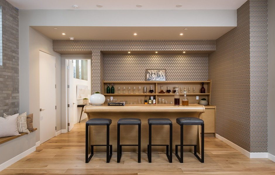Slick Bar Design - Beach adjacent home with space for luxury entertaining