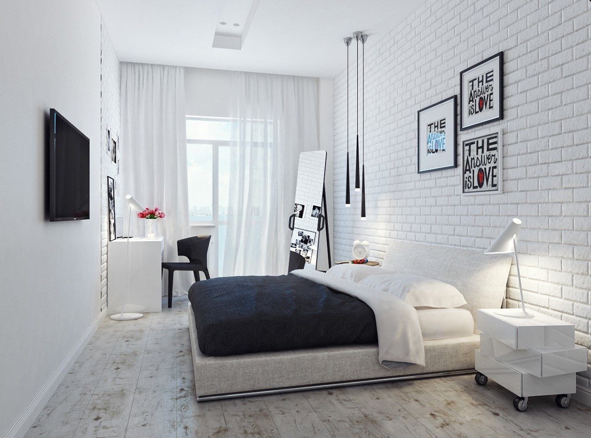 10 bedrooms for designer dreams for Black and white bedroom ideas for small rooms
