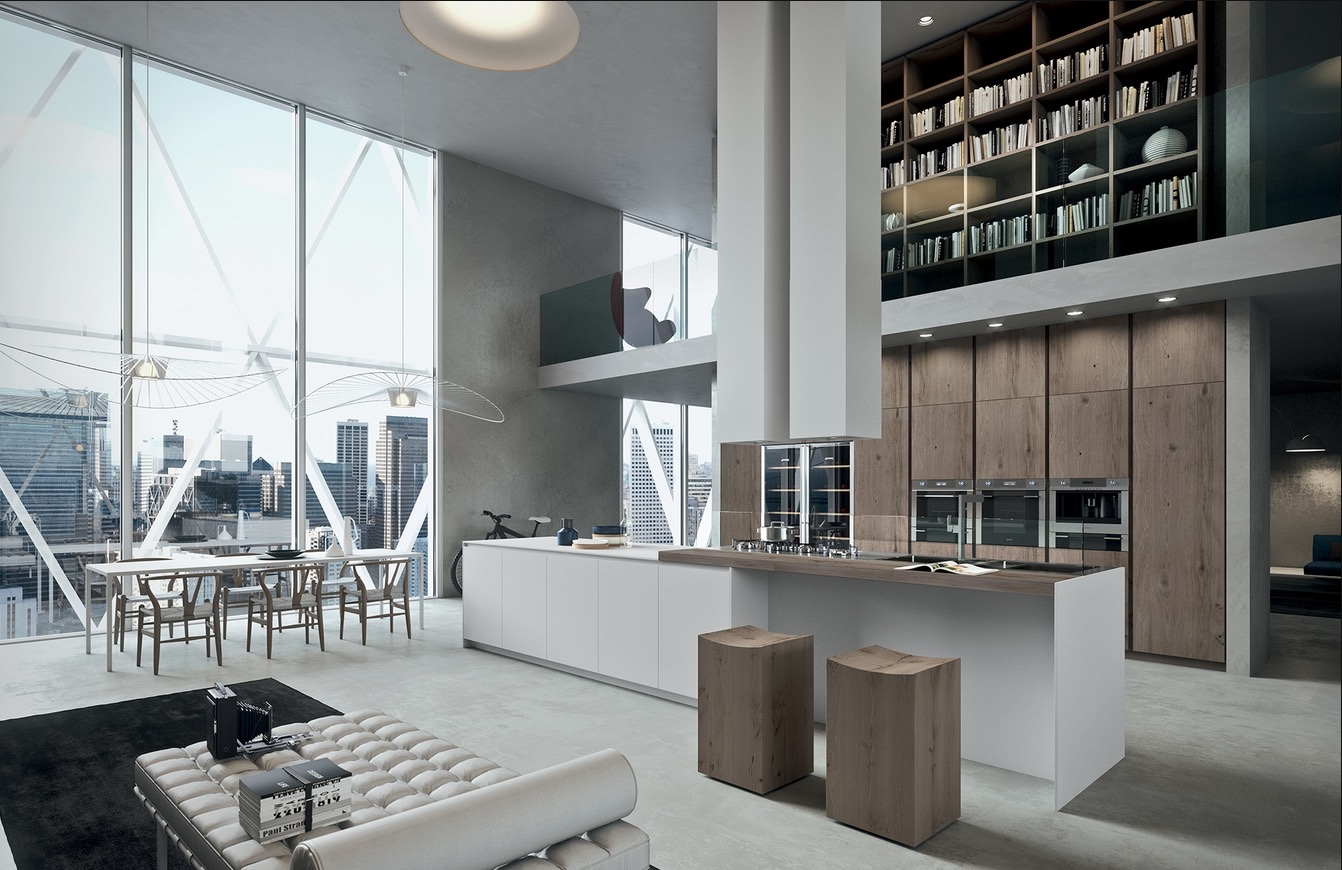 7 inspirational loft interiors for Case moderne interni cucine
