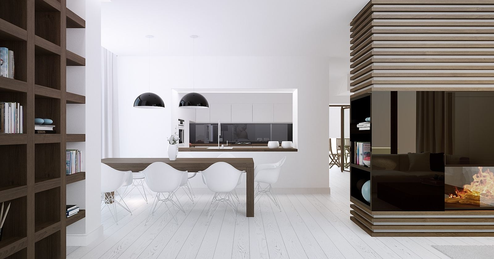 20 modern dining rooms for inspiration for Comedor minimalista