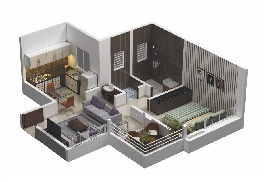 Apartment Plans 25 one bedroom house/apartment plans