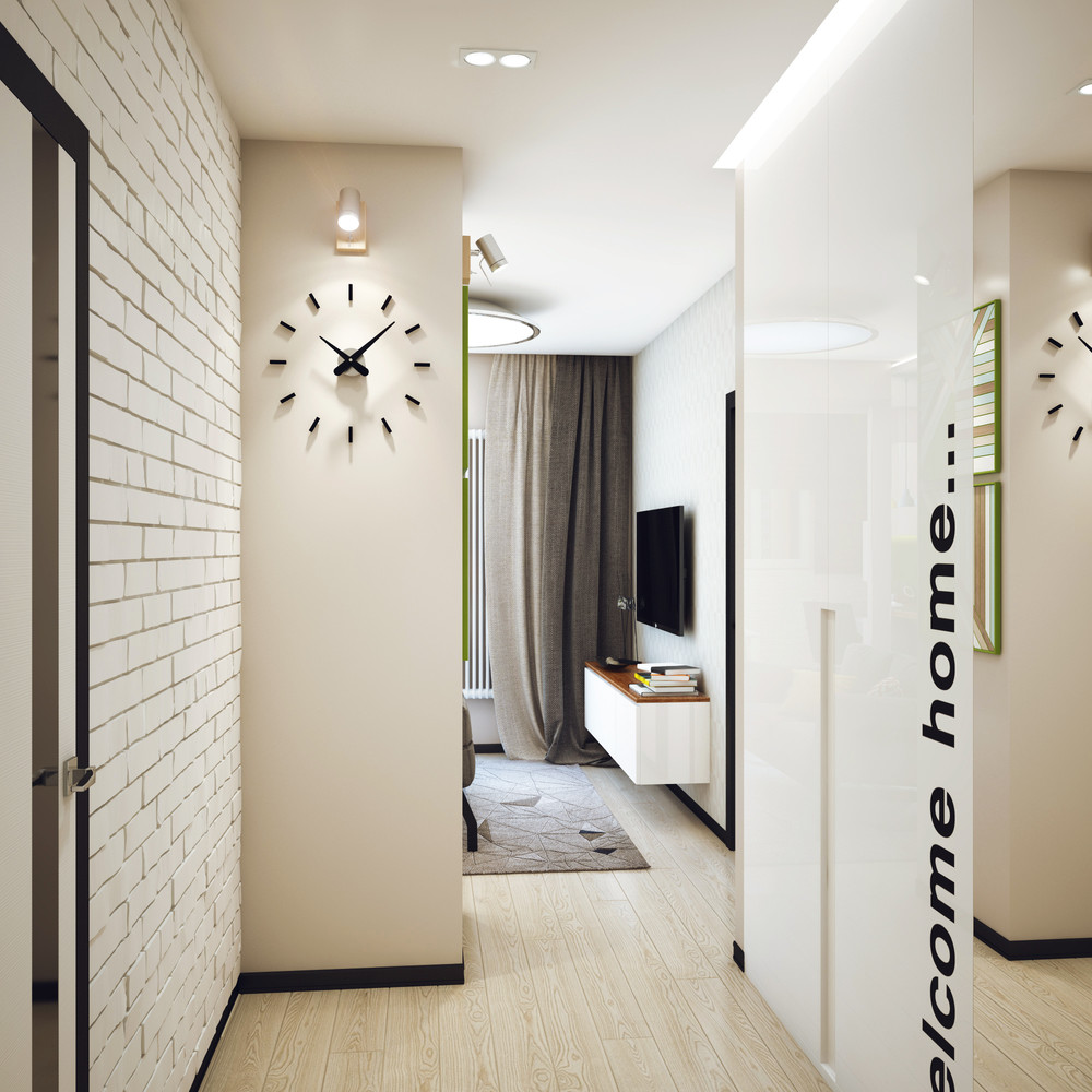 Awesome Wall Clock - Minimalist 1 bedroom apartment designed for a young man