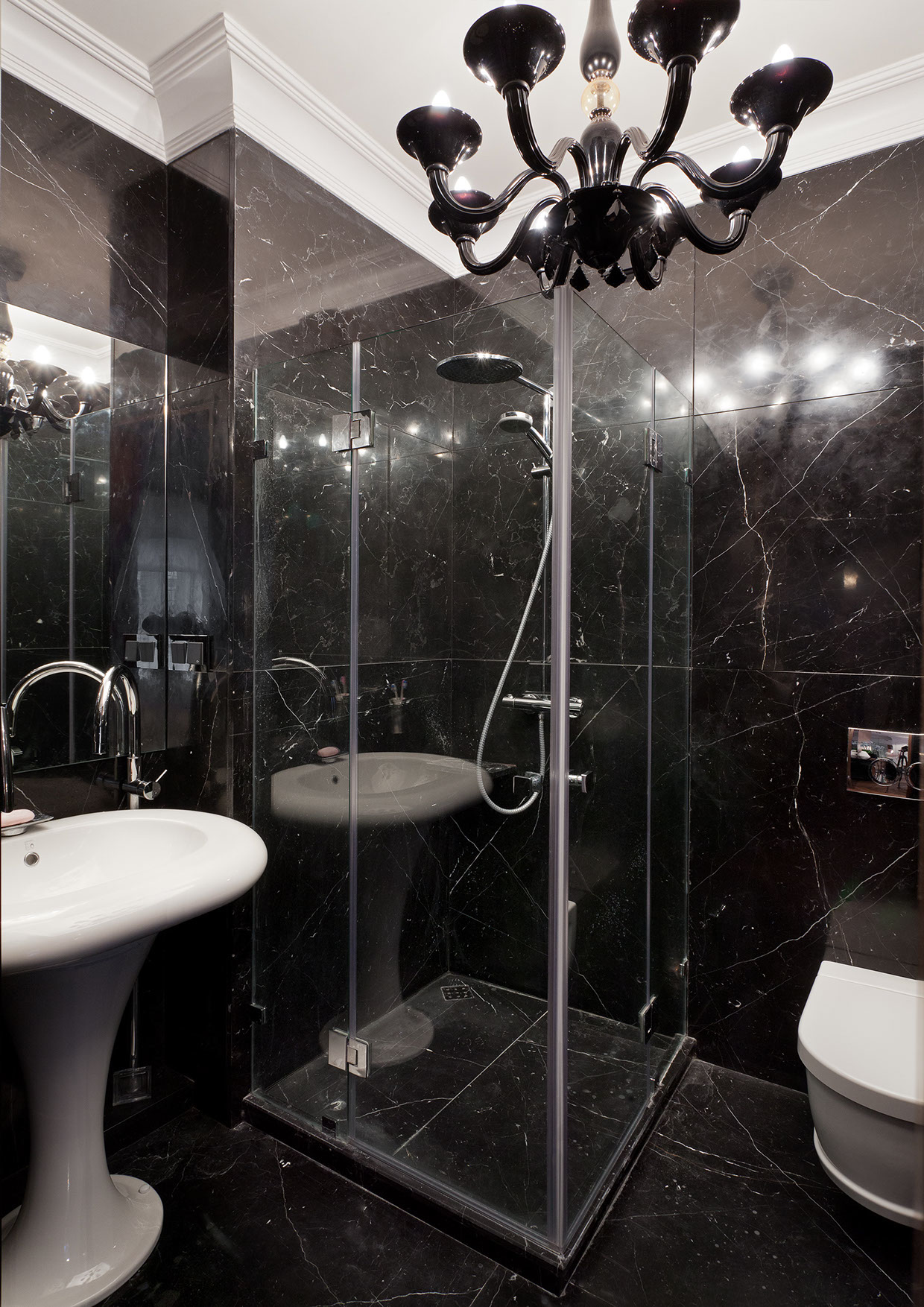 Black Marble Bathinterior Design Ideas