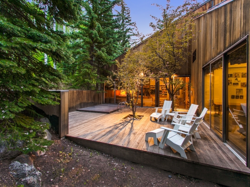 Cabin Deck Design - Gorgeous colorado cabin secluded among the trees