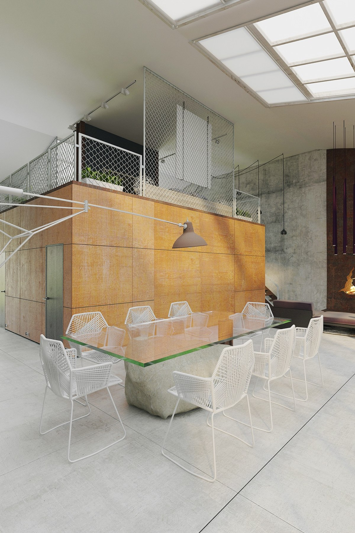 Cool Caged Loft - Homes that use a concrete finish to achieve beautiful results