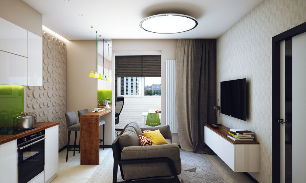 Minimalist 1 bedroom apartment designed for a young man - Decorate one bedroom apartment ...