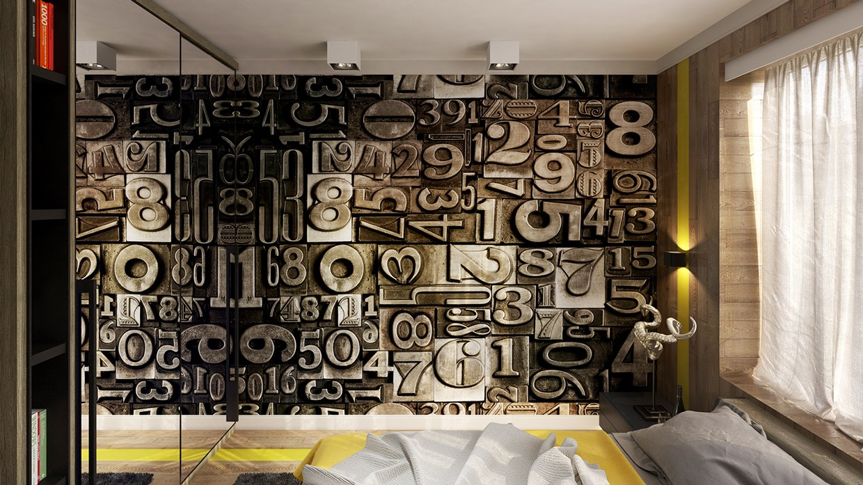 creative wall graphic interior design ideas