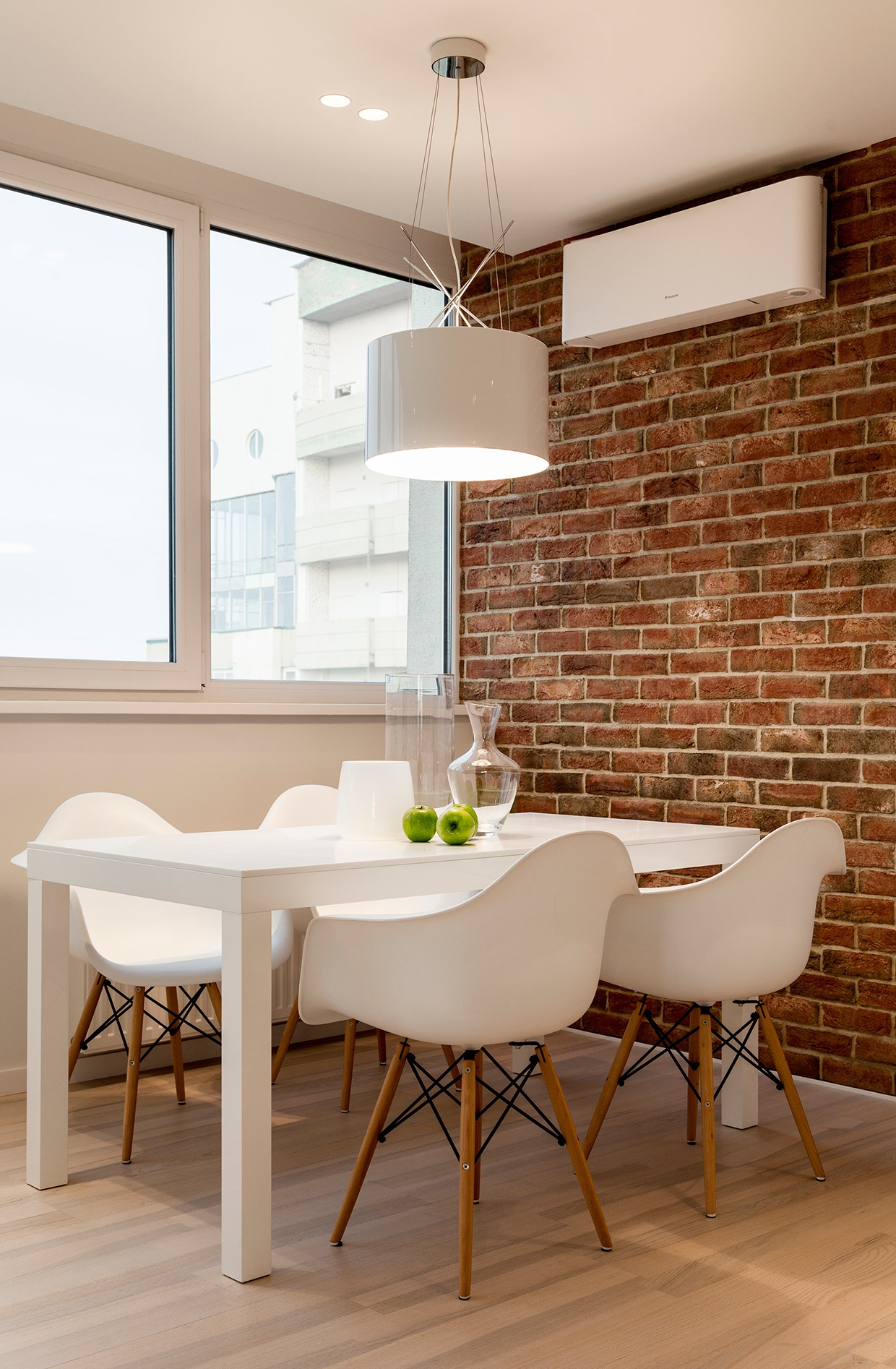 Exposed Brick Design - 3 sparkling apartments that shine with wonderful white