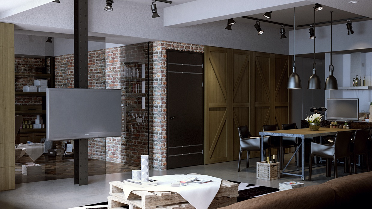 5 houses that put a modern twist on exposed brick for Architecture interieur salon