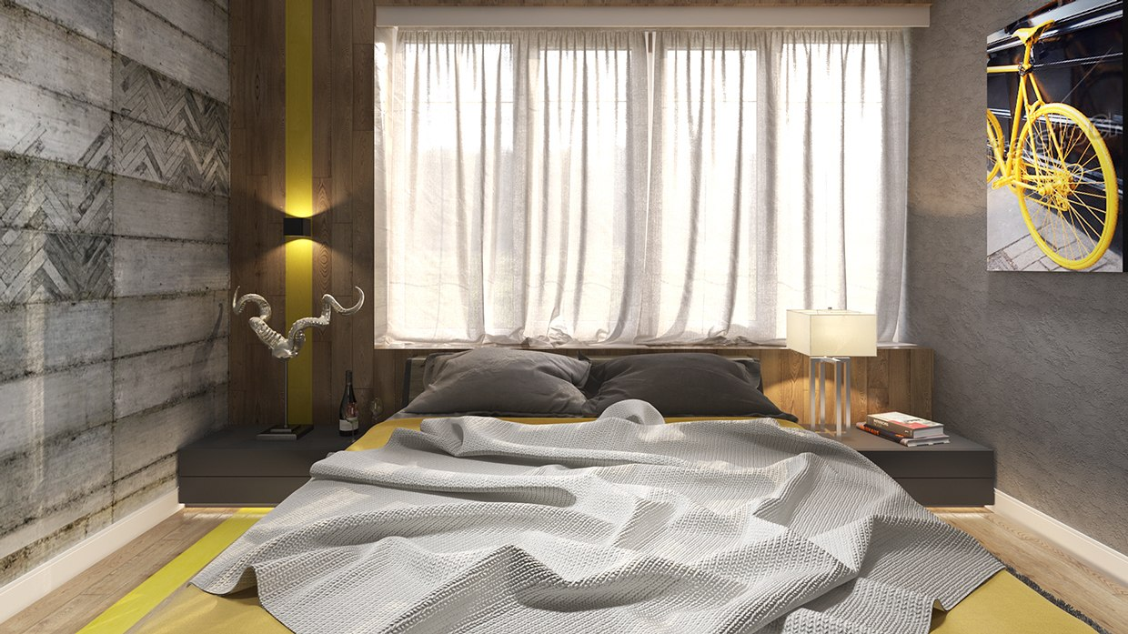 Gray And Yellow Bedroom Of Six Beautiful Bedrooms With Soft And Welcoming Design Elements