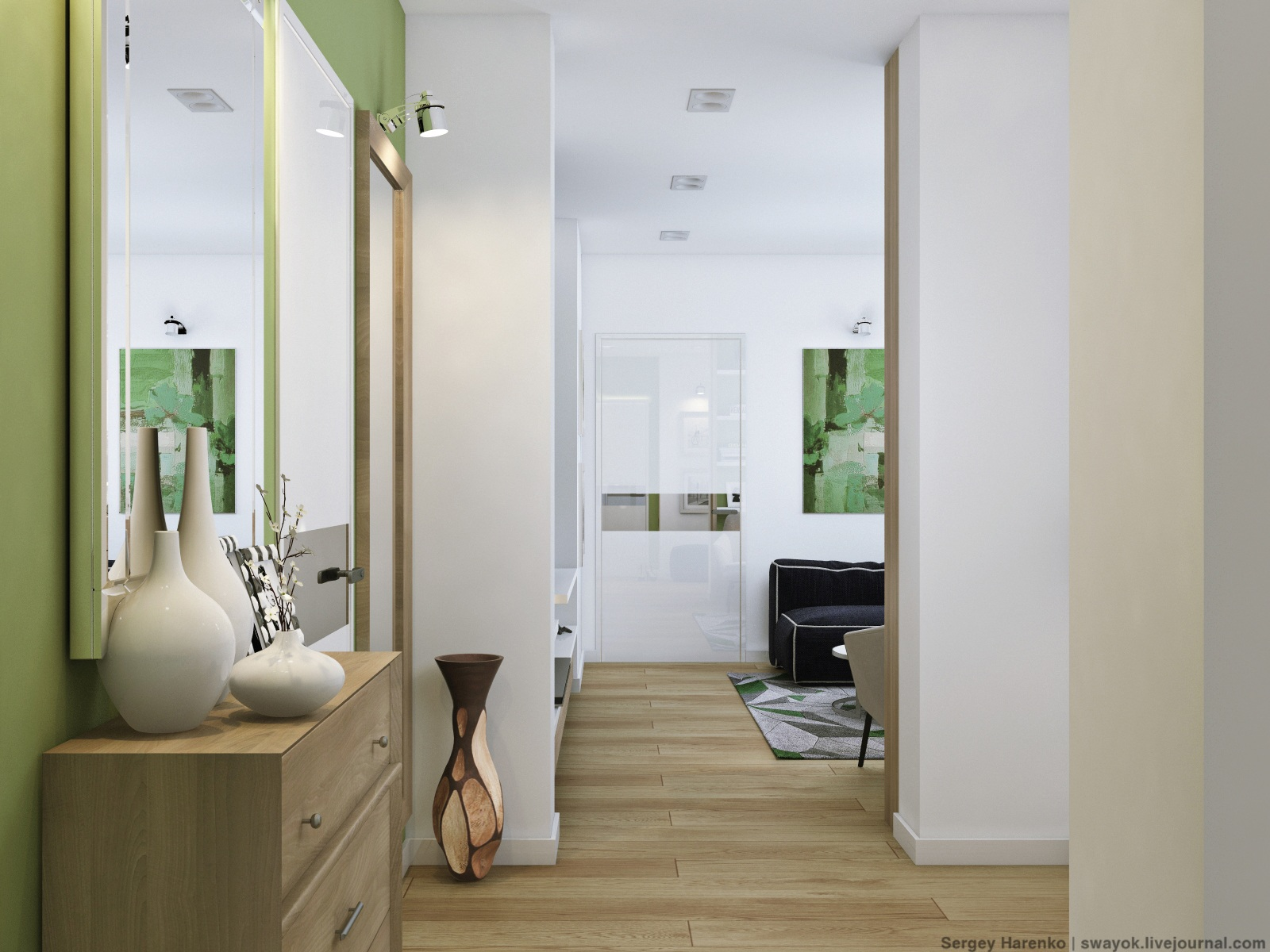 Green And White Decor - 3 sparkling apartments that shine with wonderful white
