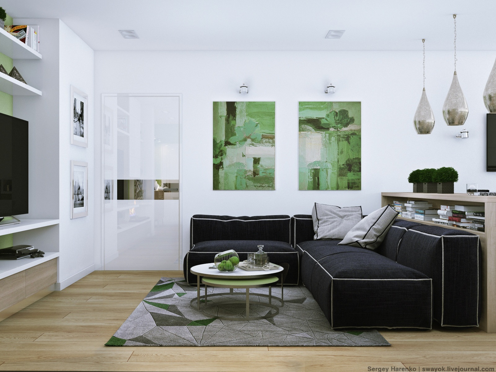 Green Design - 3 sparkling apartments that shine with wonderful white