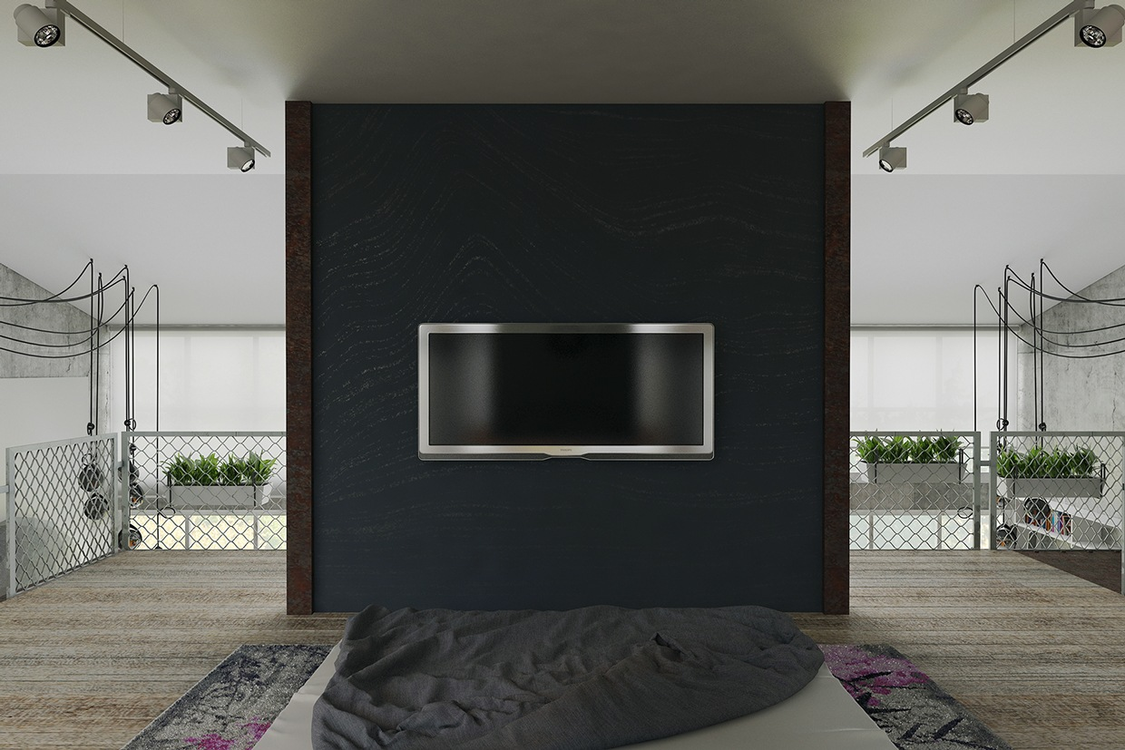 Home Television Mounting - Homes that use a concrete finish to achieve beautiful results