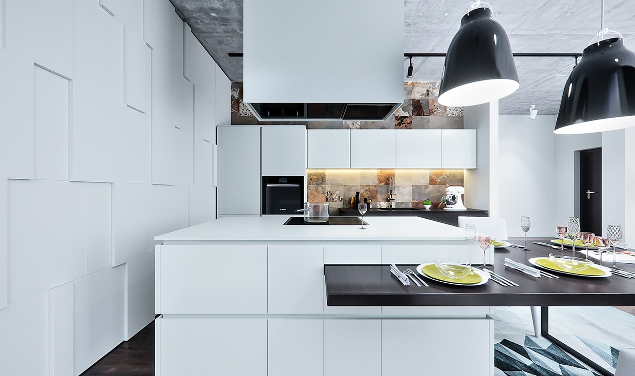 Fine High Ceiling Kitchen Motif - Modern Kitchen Set - dietmania.info