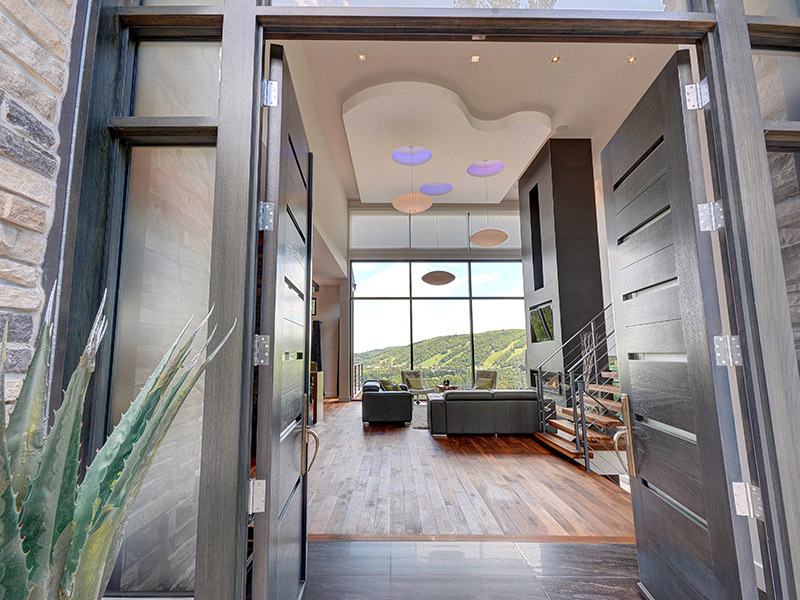 Luxury Vaulted Entryway - Luxury mountain retreat is not your average log cabin
