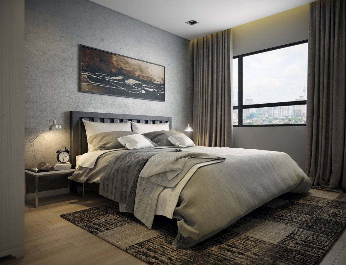 Modern Bedroom - 5 houses that put a modern twist on exposed brick