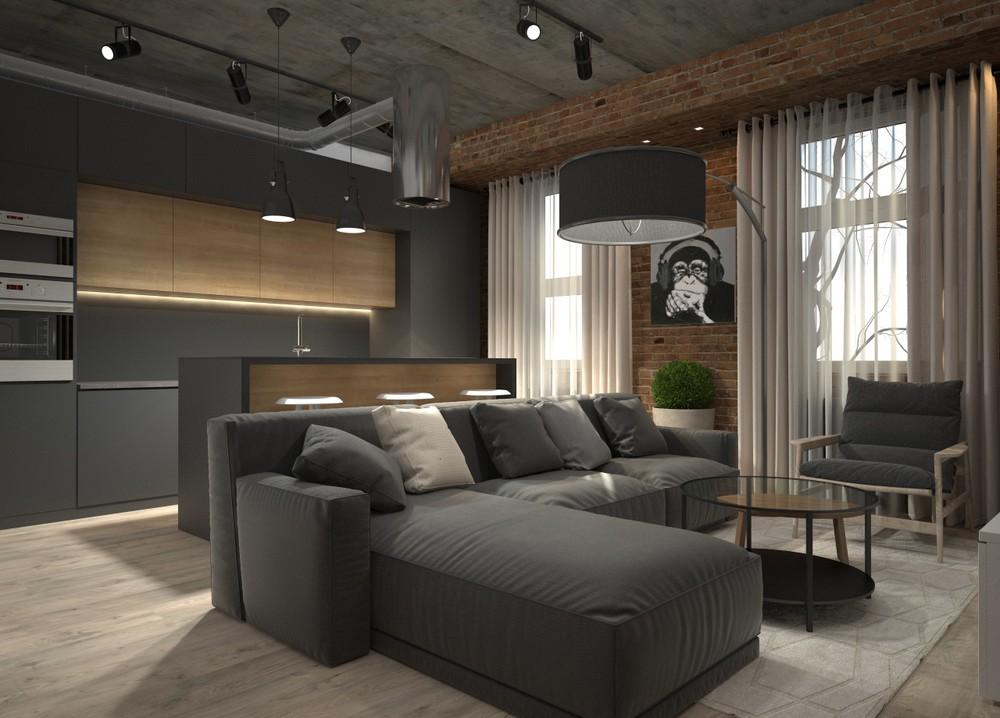 5 houses that put a modern twist on exposed brick. Black Bedroom Furniture Sets. Home Design Ideas