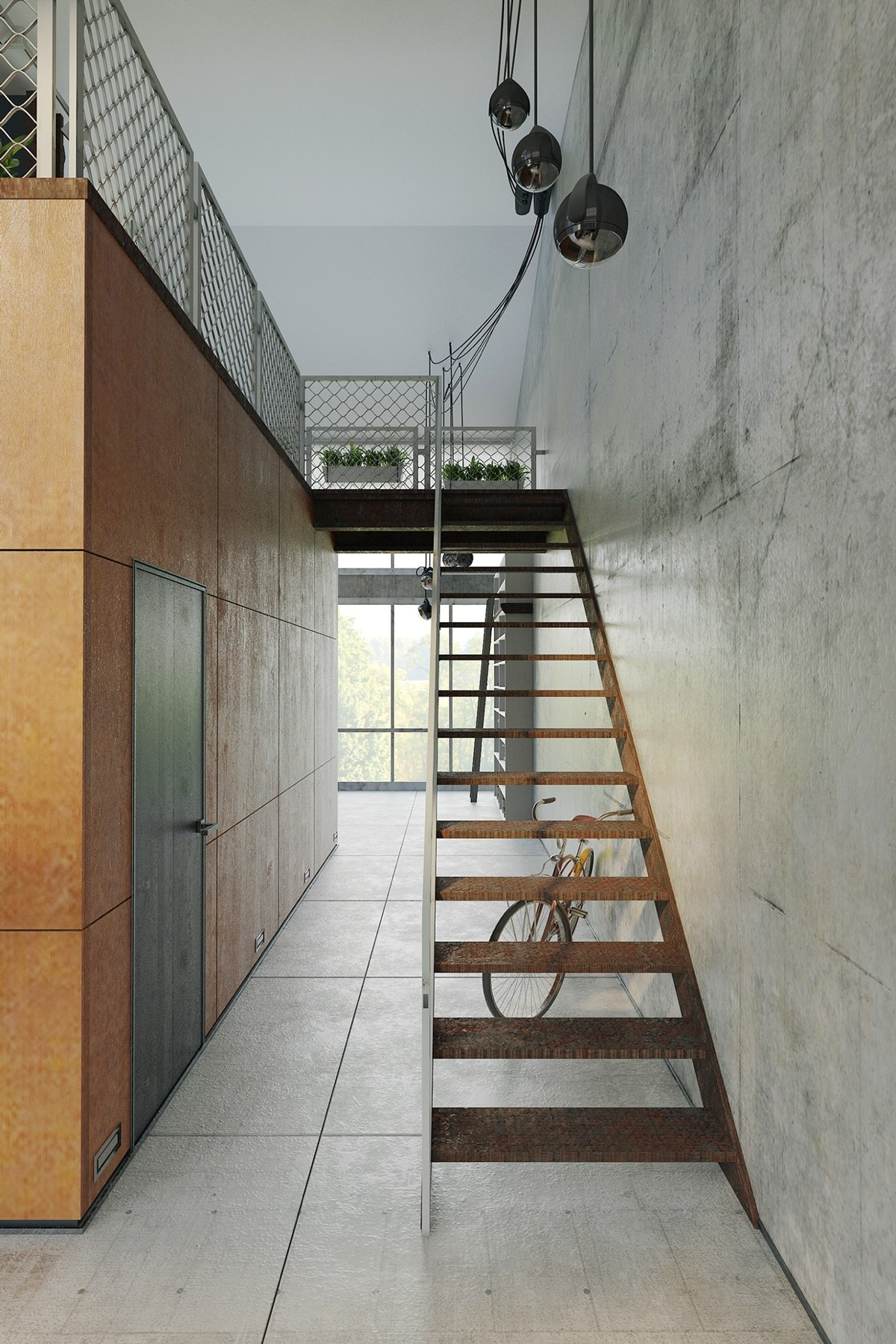 Homes that use a concrete finish to achieve beautiful results for Industrial flooring for homes