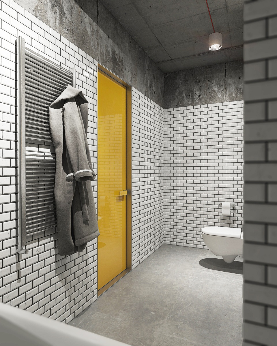 Mustard Yellow Door - 2 creative apartments featuring whimsical art