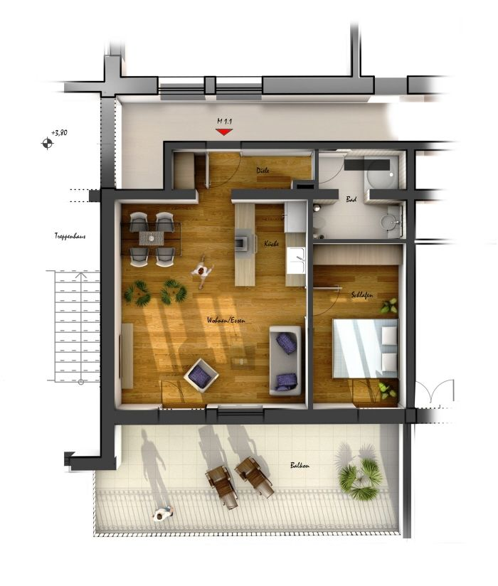 loft apartment bachelor pad luxury floor plans modern