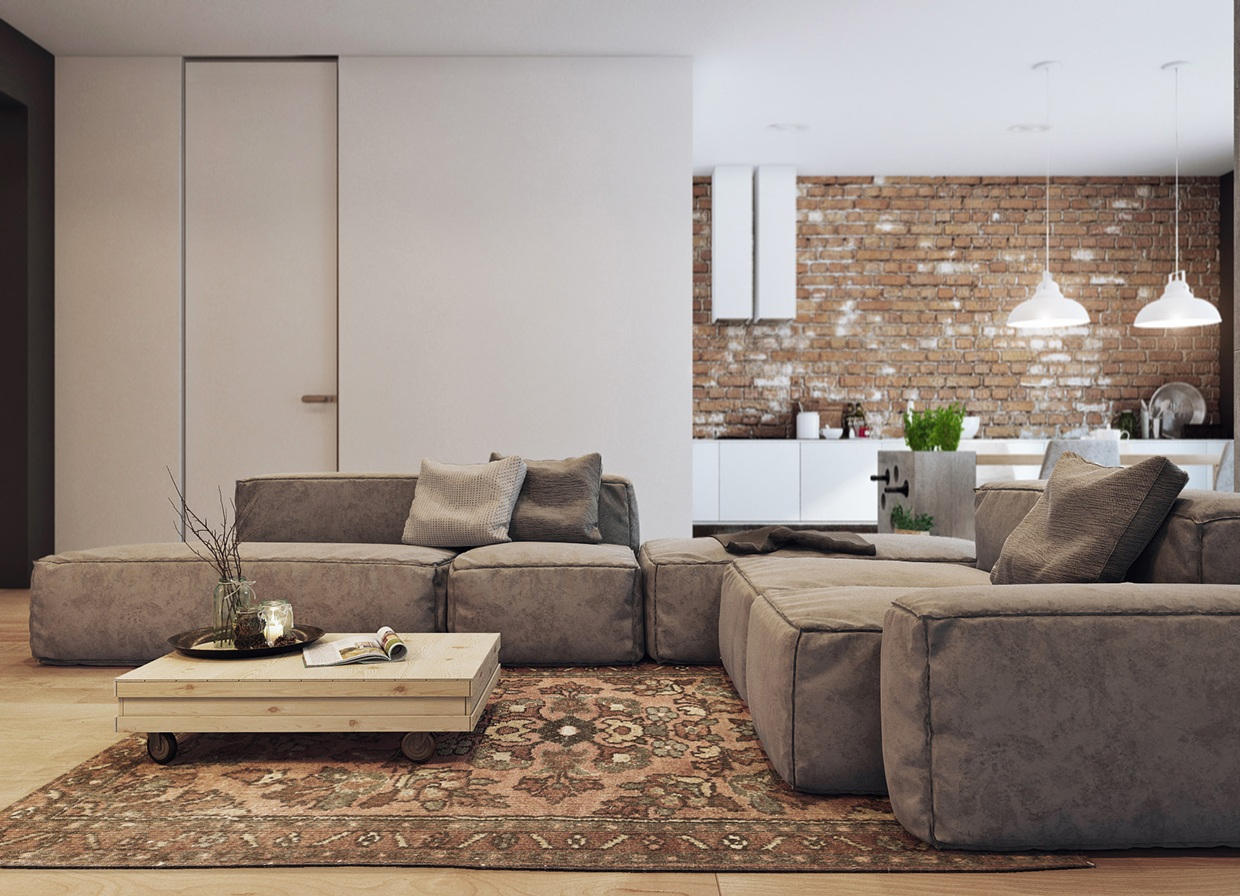 5 houses that put a modern twist on exposed brick - Revestimiento piedra artificial ...
