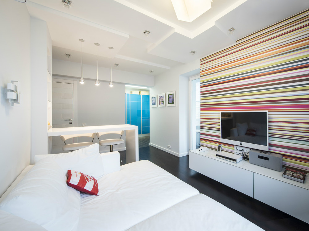 Two modern apartments with perfectly placed bursts of colors