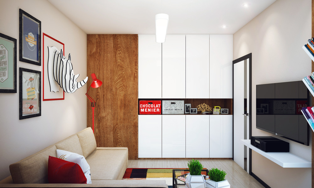 Quirky Gallery Wall - Minimalist 1 bedroom apartment designed for a young man