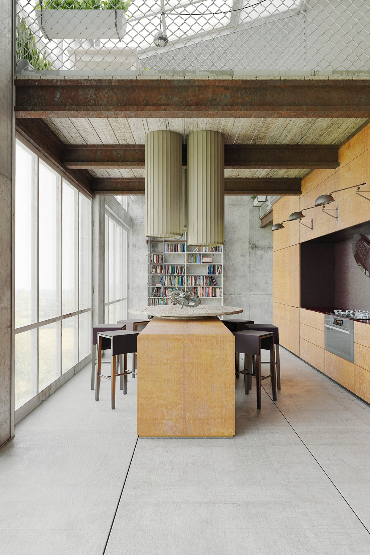 Homes that use a concrete finish to achieve beautiful results for Architectural beams