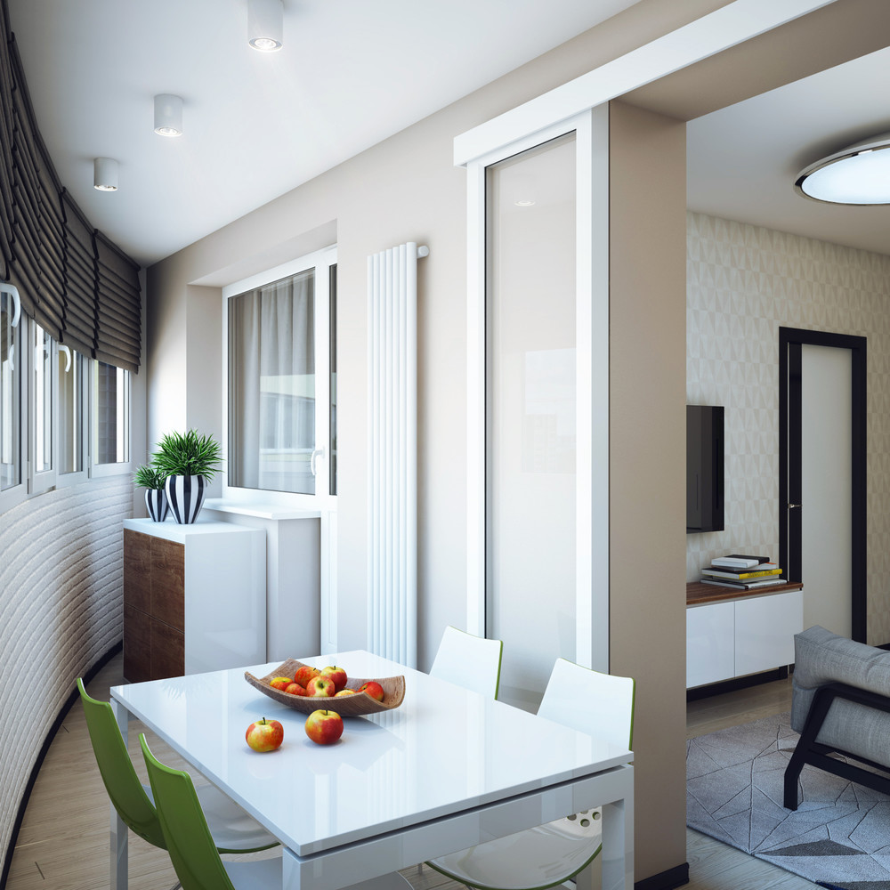 Small Dining Nook - Minimalist 1 bedroom apartment designed for a young man