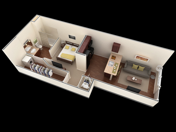 Bedroom Layout Rectangle