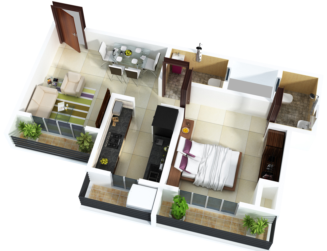 Phenomenal 25 One Bedroom House Apartment Plans Largest Home Design Picture Inspirations Pitcheantrous