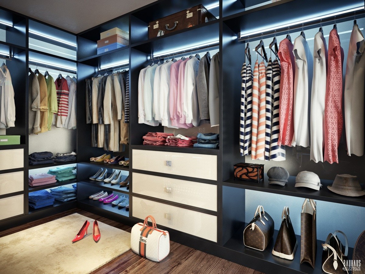 Walk in closet design interior design ideas Walk in closet design