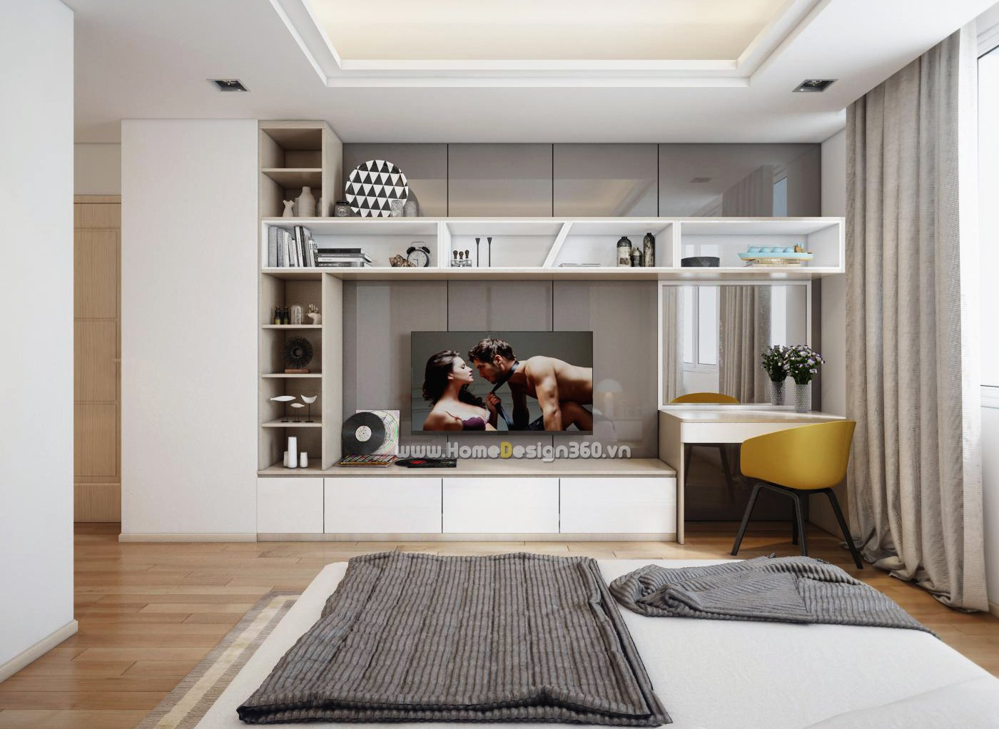 Posh Apartment Interiors - Posh bedroom designs