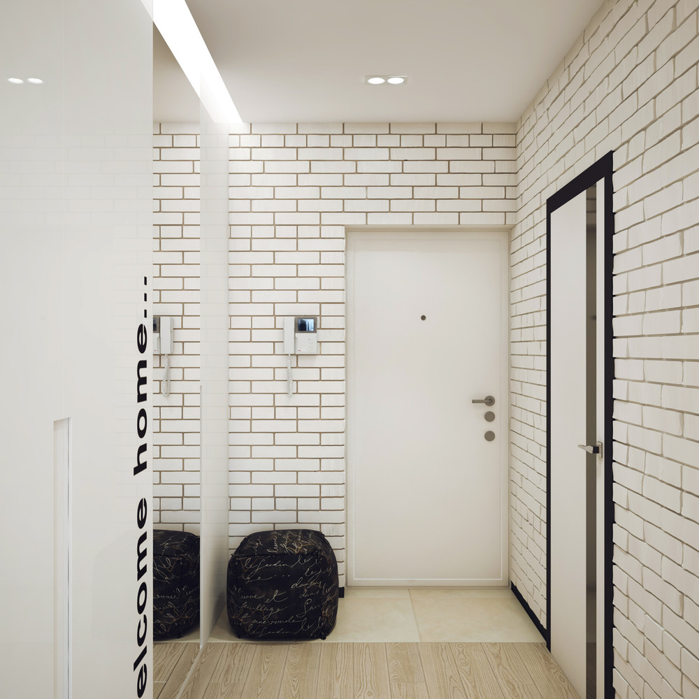 White Brick Design - Minimalist 1 bedroom apartment designed for a young man