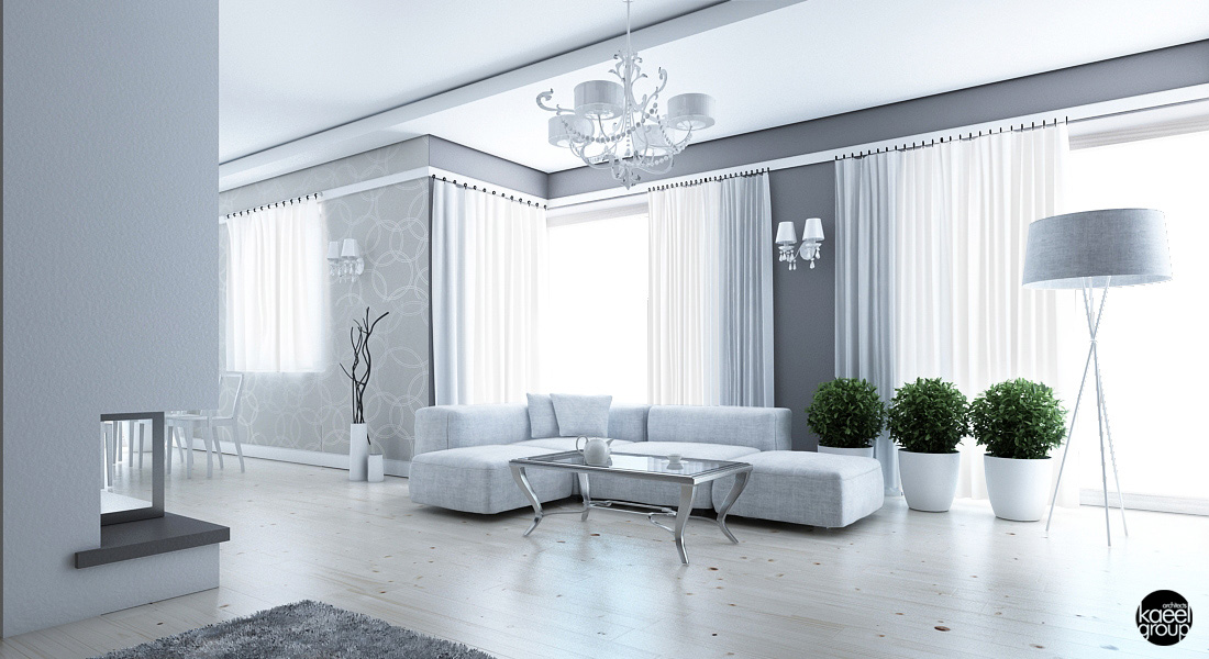 3 sparkling apartments that shine with wonderful white for Casa moderna total white