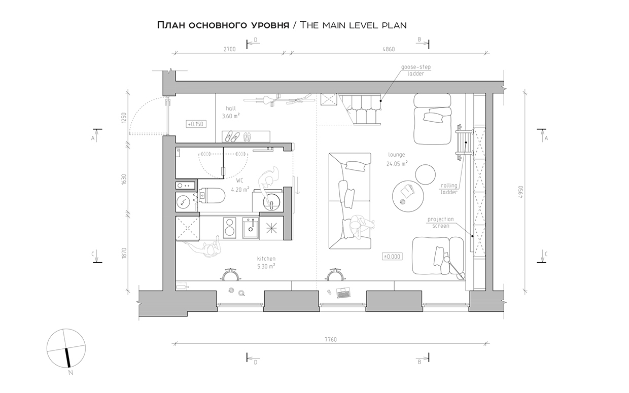 Apartment Layout - A super small apartment that adapts to its owner s needs