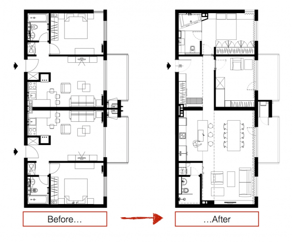 Three sleek apartments under 1500 square feet from all in for 100 sq ft bedroom layout