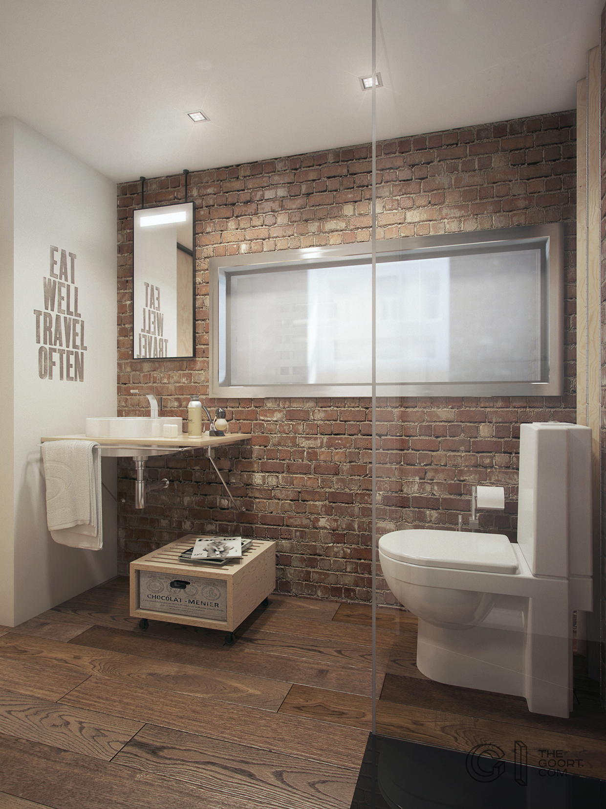 Artsy Bathroom - A super small apartment that adapts to its owner s needs