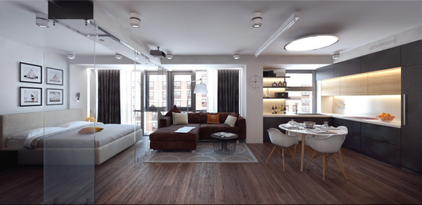 Ultimate studio design inspiration 12 gorgeous apartments for One big room apartment