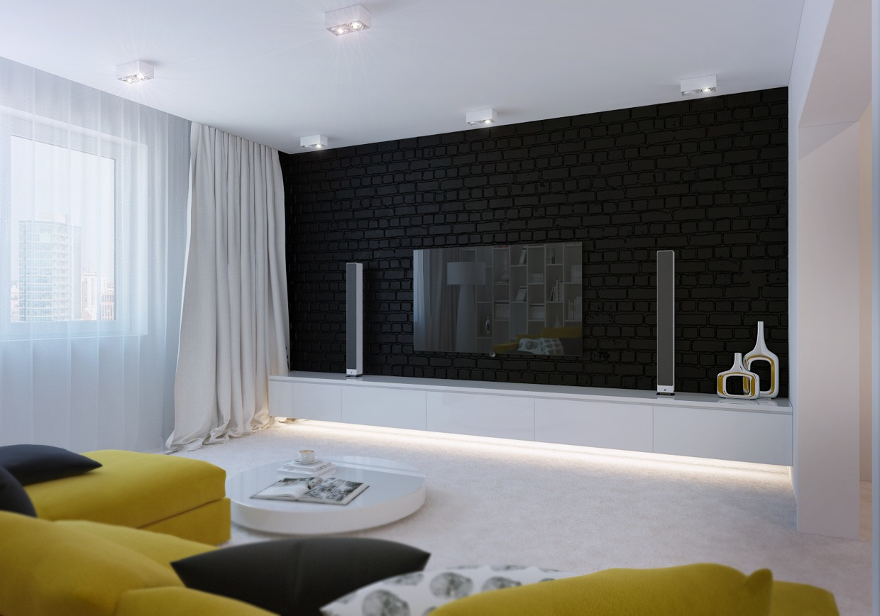 White Bedroom Accent Wall
