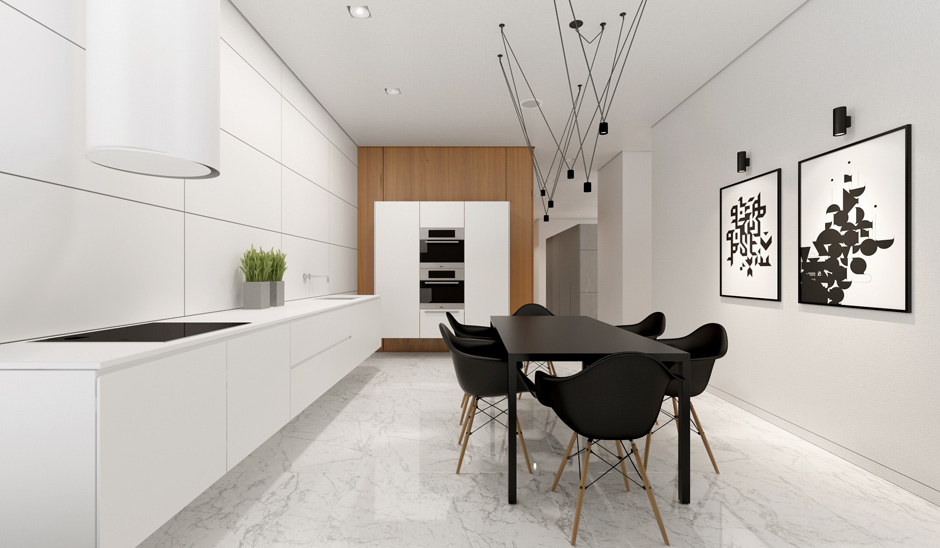 black eames dining chair interior design ideas