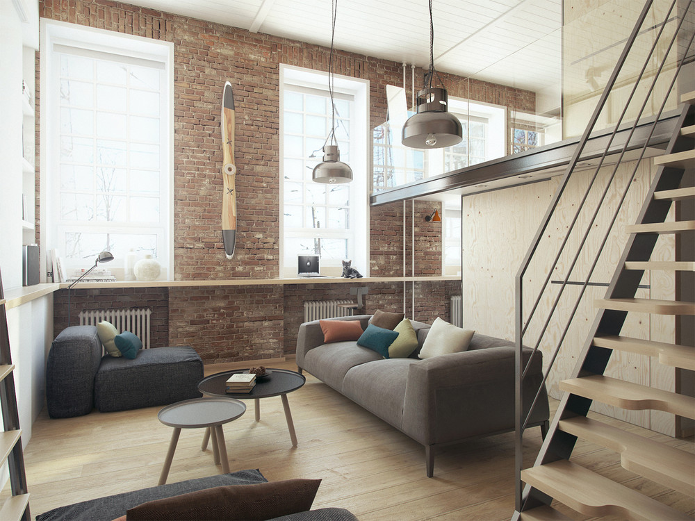 a super small apartment that adapts to its owners needs - Brick Apartment 2015